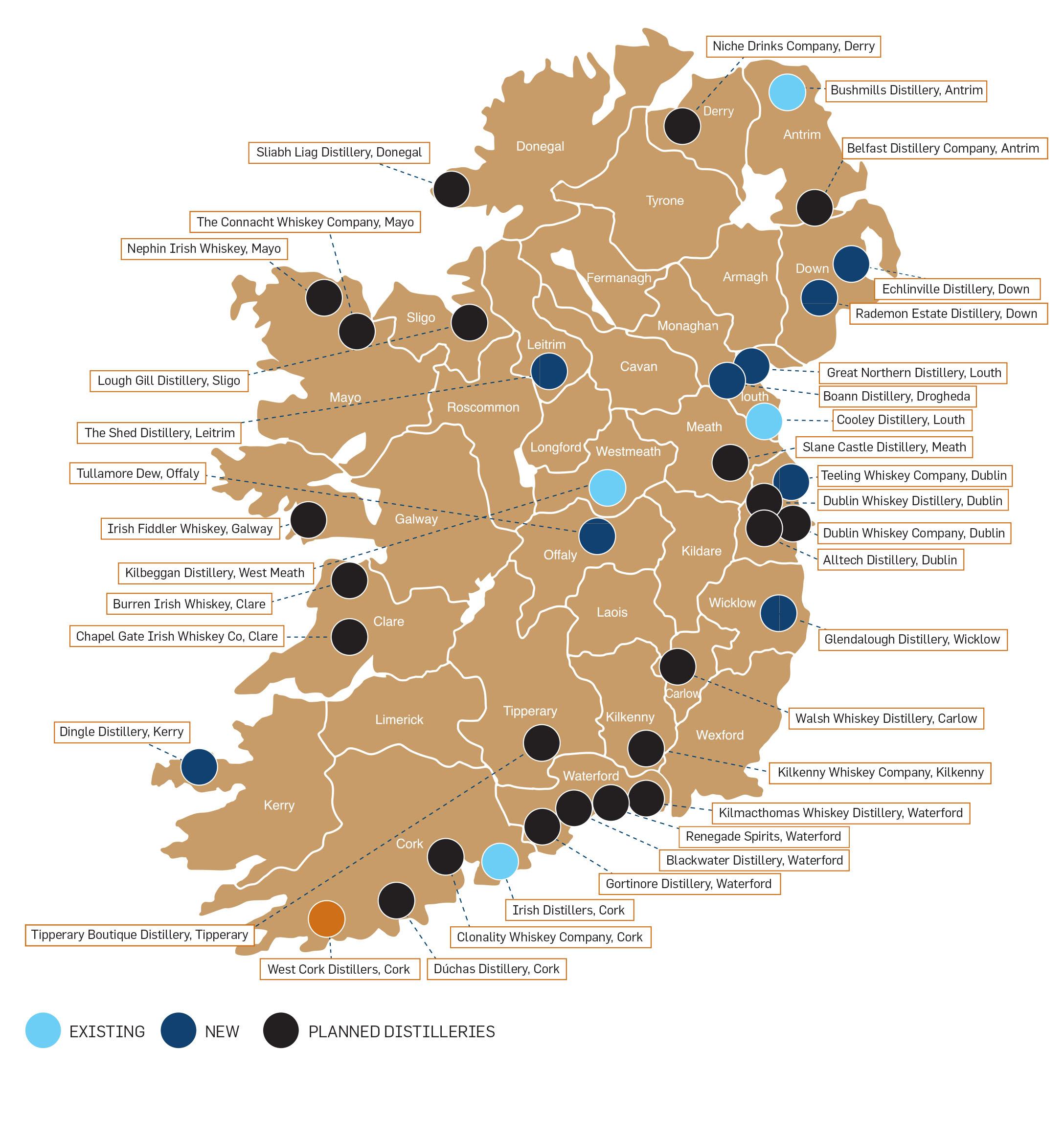 map_of_irish_whiskey_distillery