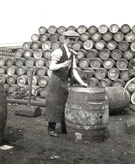 the role of a cooper - cask maker - whiskey - the pot still